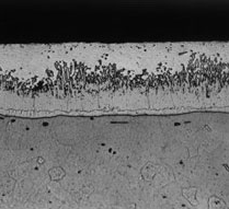 Microstructure of a typical hot dip galvanized coating
