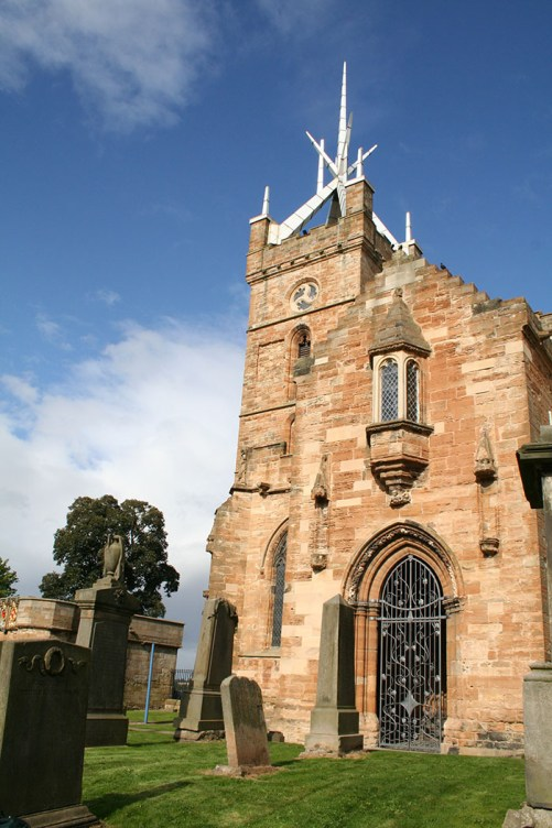 South Porch Gates, St Michael's Church, Linlithgow - P Johnson