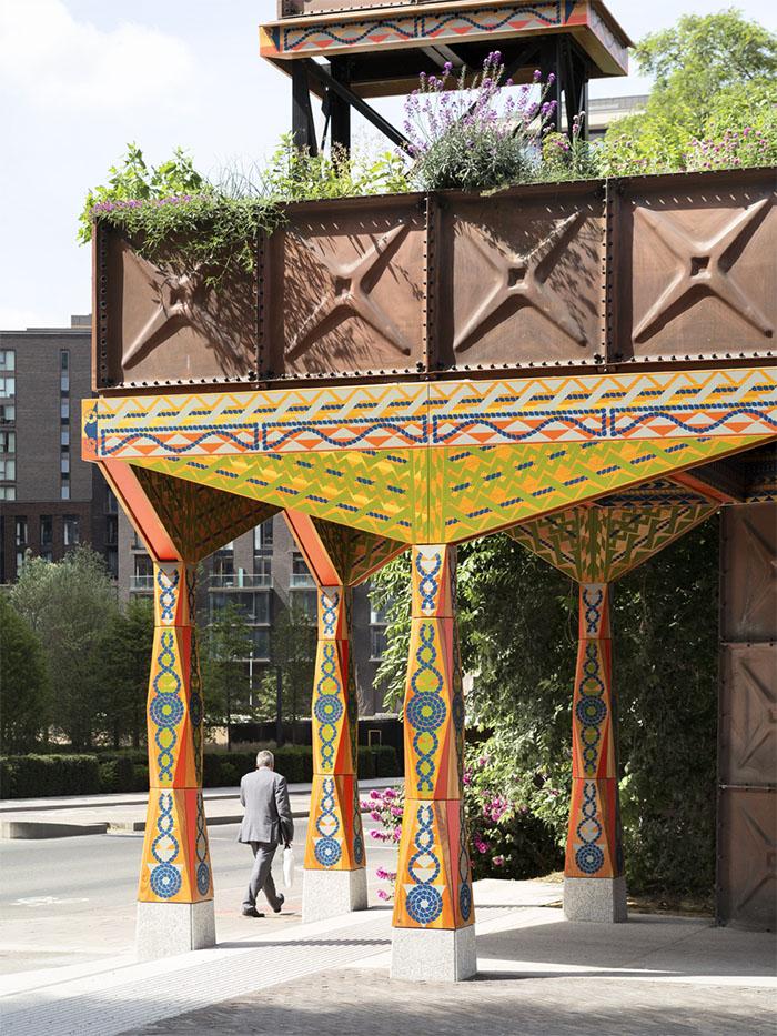 Studioweave Nine Elms Thames Path Pavilion