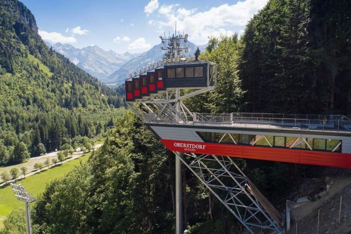 Heini-Klopfer ski jump in Oberstdorf, Germany