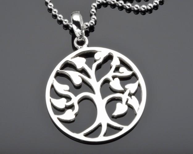 LEBENSBAUMSCHMUCK TREE OF LIFE KETTE SILBERSCHMUCK