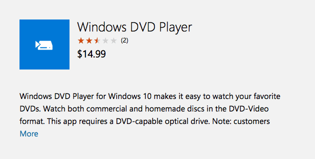 Windows 10 wants you to spend $15 to watch DVD's - Gambit Magazine