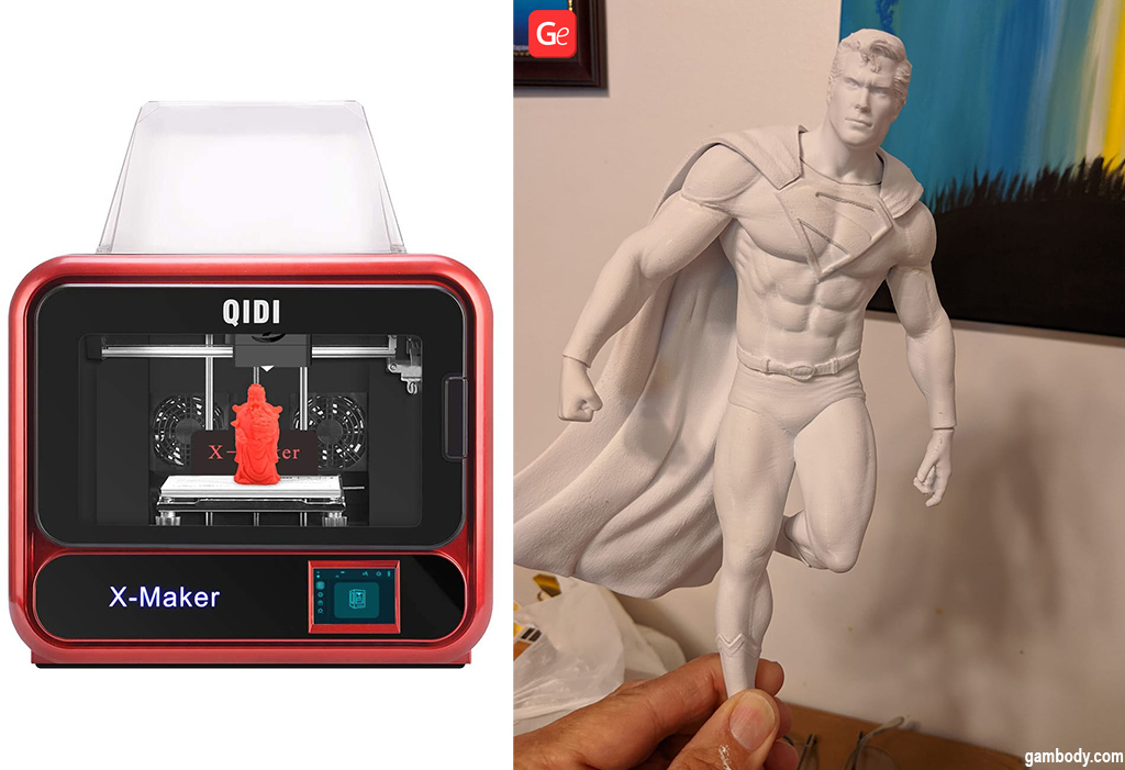 Superman figurine made on Qidi Tech X-Maker