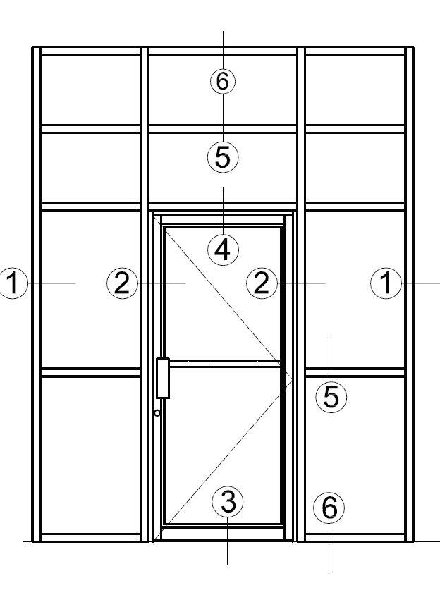 2.5×5.5 Member With Narrow Stile Door