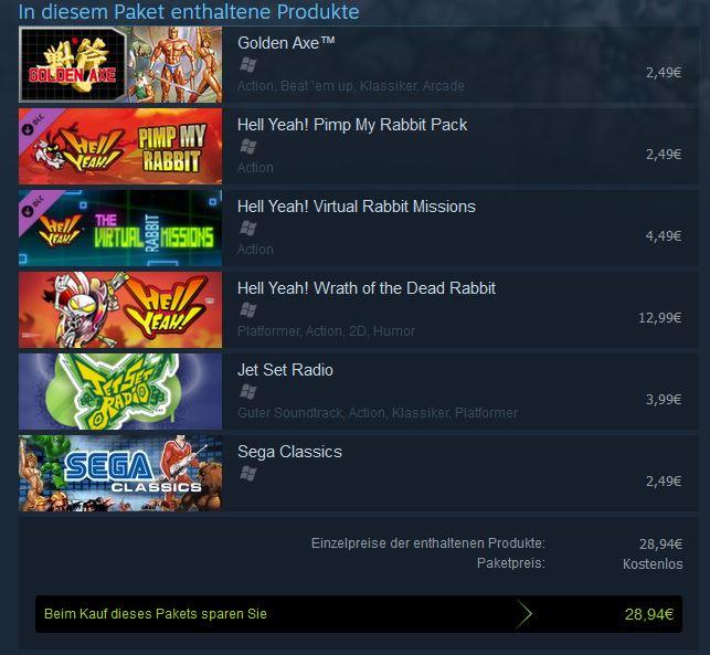 Steam – Kostenlose Games von SEGA - Free Steam Games