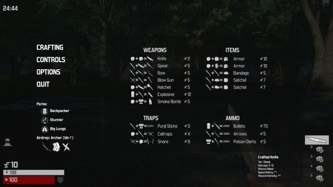 The Culling - Crafting Plan
