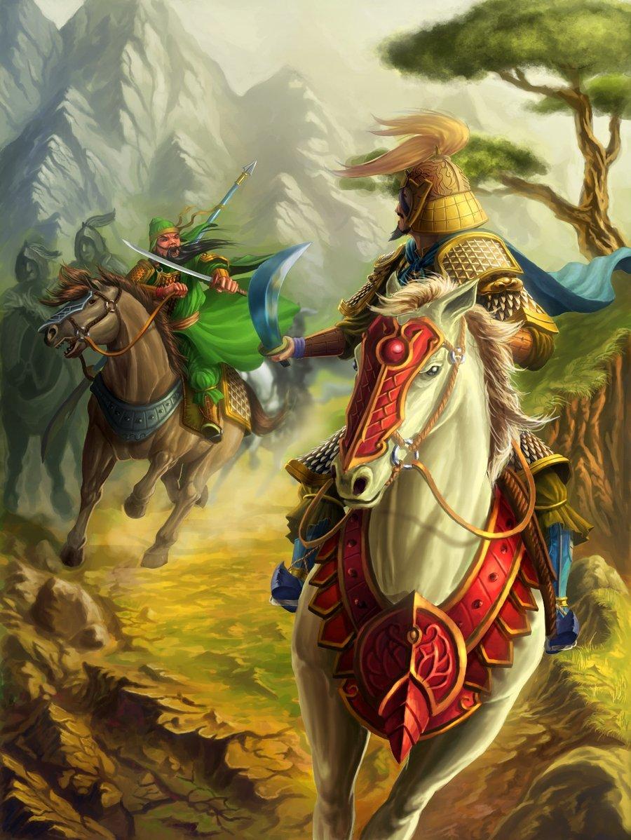 Guan Yu Vs Xiahou Dun Fan Art by B03DI