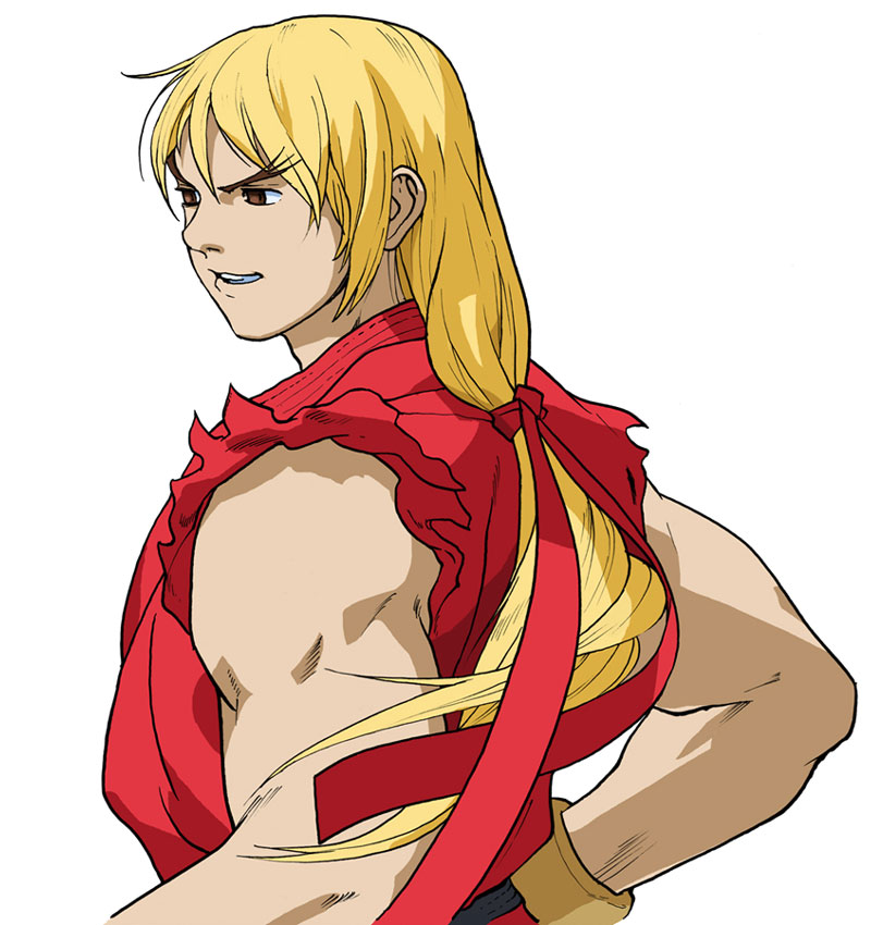 ken masters official render from street fighter alpha 3