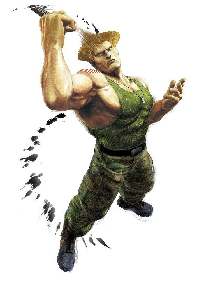 Guile Official Render From Super Street Fighter Iv Arcade Edition
