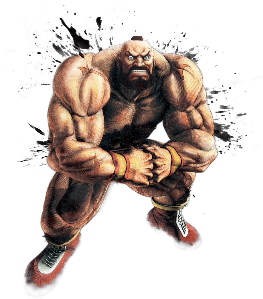 Zangief Official Render Art From Super Street Fighter Iv Arcade