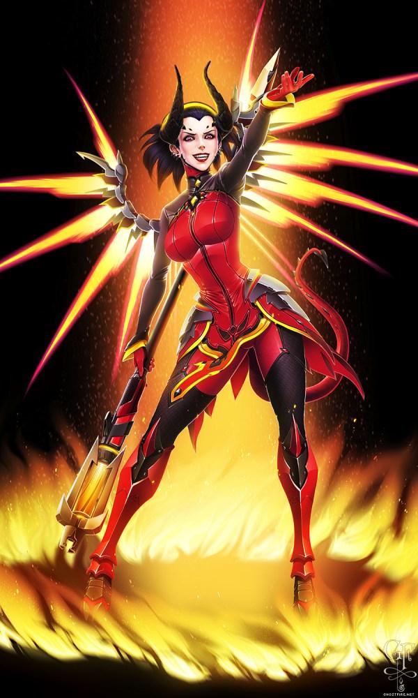 Overwatch Mercy Devil deviantART