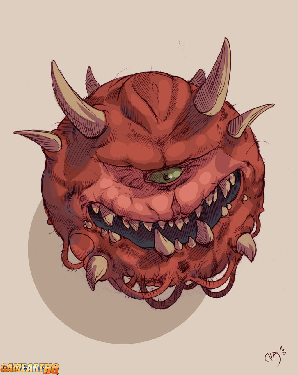 the cacodemon enemy from