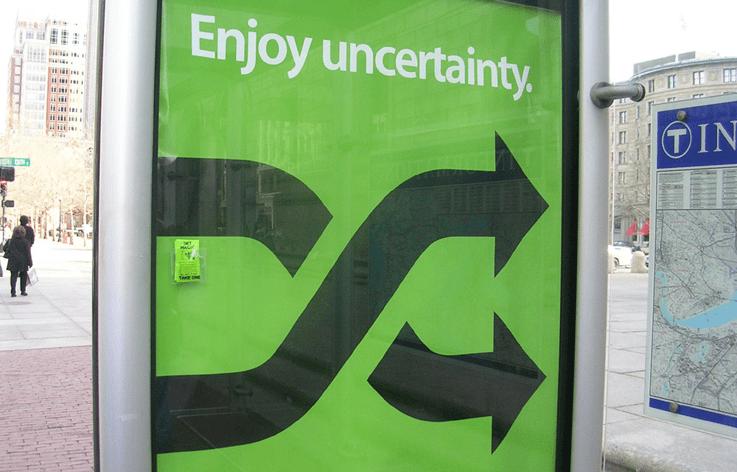 enjoy uncertainty