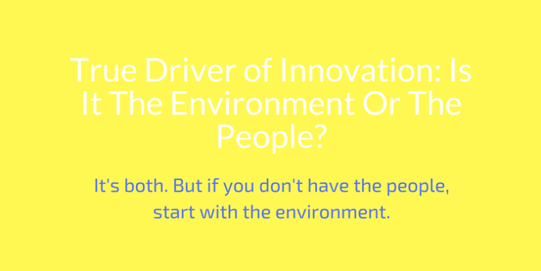 True Driver of Innovation: Is It The Environment Or The People?