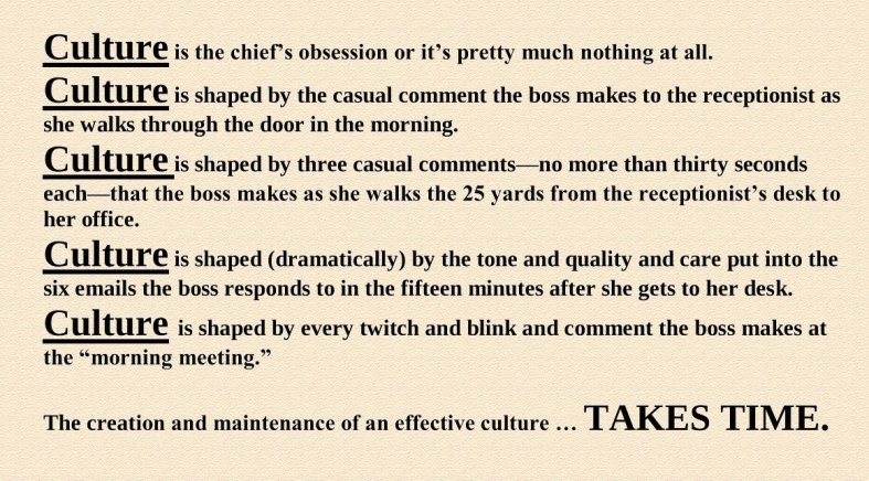 culture tom peters