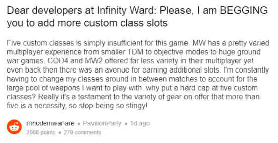 reddit MW classes