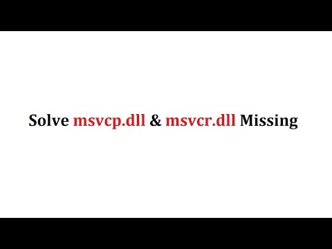 msvcp.dll missing windows 10