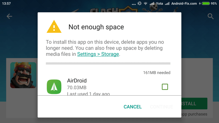 How to Fix Error Not Enough Space in Android Phone