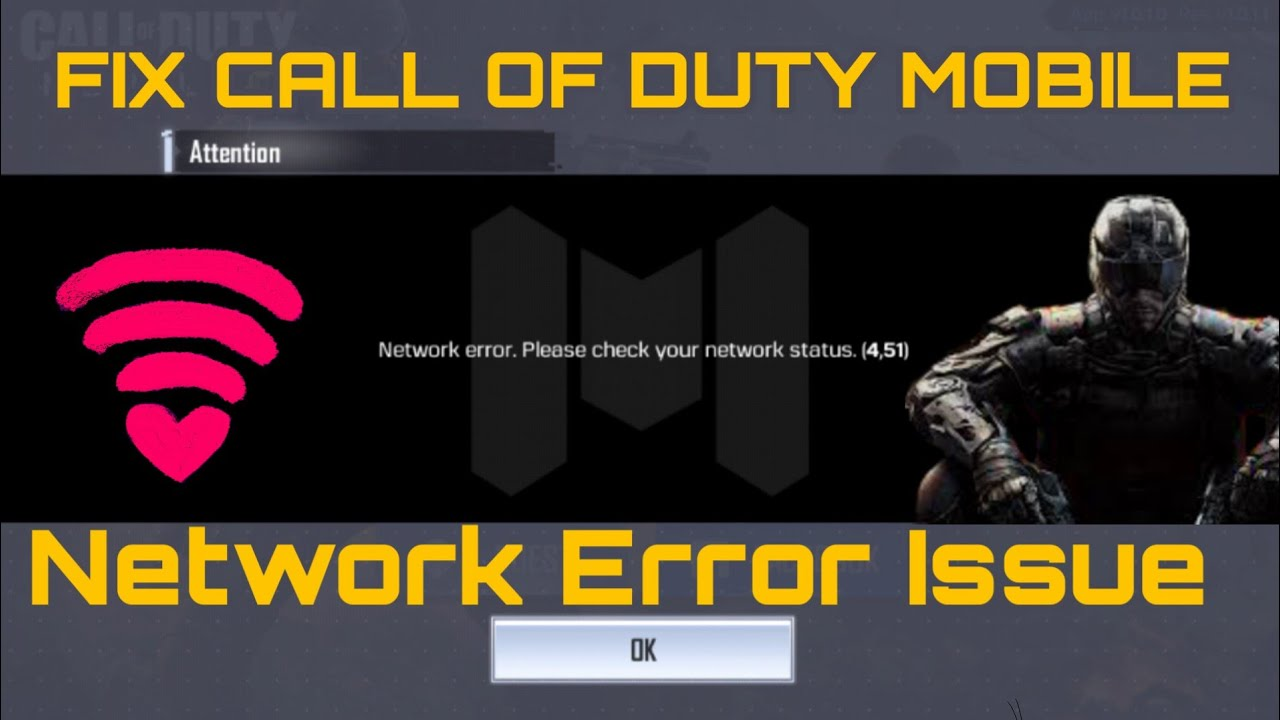 "How To Fix Call Of Duty Mobile ""Network Error. Please Check Your Network Status"""