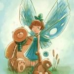 """""""Goblins Drool, Fairies Rule!"""" fairy - Baby Blue"""