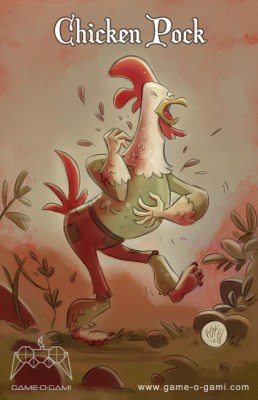 """Goblins Drool, Fairies Rule!"" goblin - Chicken Pock"