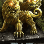 Immortal - game of mythic strategy - Komainu card illustration
