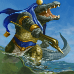 Immortal card game illustration - Sobek