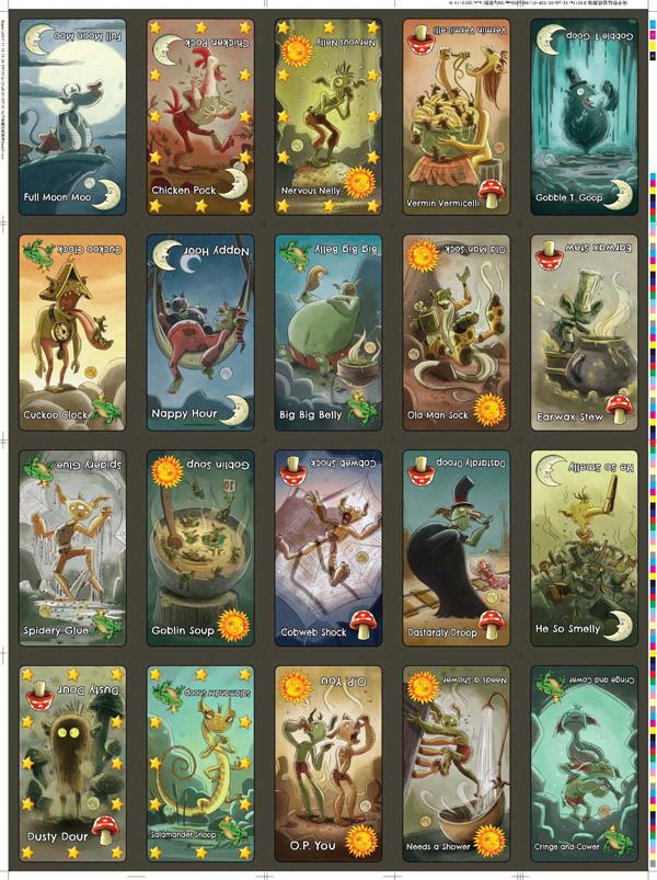 Goblins Drool, Fairies Rule! - uncut card sheet