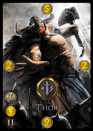 Immortal - strategy game - Thor card