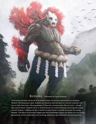 Kodama - Immortal art book of myths and legends by Game-O-Gami
