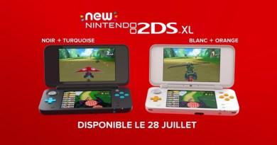 Nintendo New 2DS XL couleurs colors design