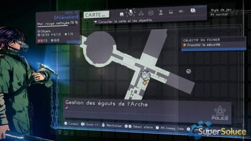Astral chain, emplacement des toilettes fichier 10, papier de verre soluce