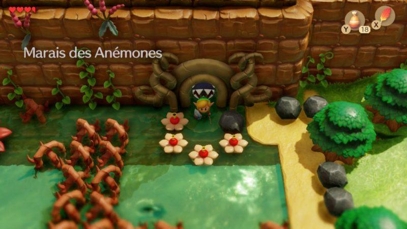 zelda link awakening soluce solution marais anemones guide