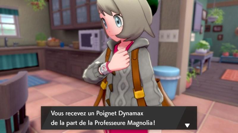 solution cheminement la maison de la professeure carte map pokemon épée bouclier, bracelet dynamax
