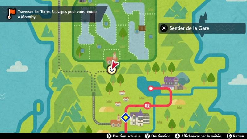 solution cheminement le sentier de la gare carte map pokemon épée bouclier