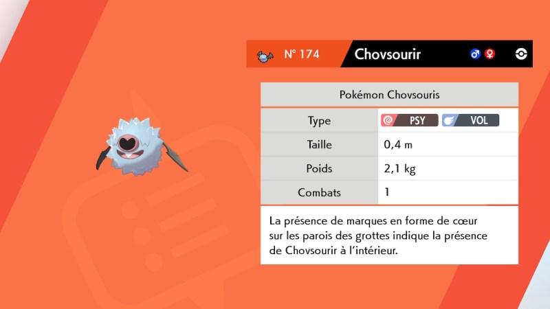 Solution pokemon épée et bouclier, mine de galar emplacement chovsourir