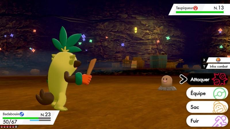 Solution pokemon épée et bouclier, mine de galar emplacement taupiqueur