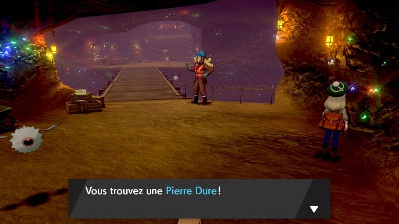 Solution pokemon épée et bouclier, mine de galar emplacement objet Pierre Dure