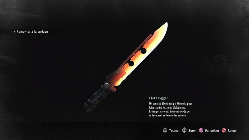 resident evil 3 remake, soluce et guide des arme, hot dogger emplacement