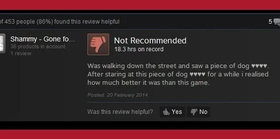 the funniest steam reviews