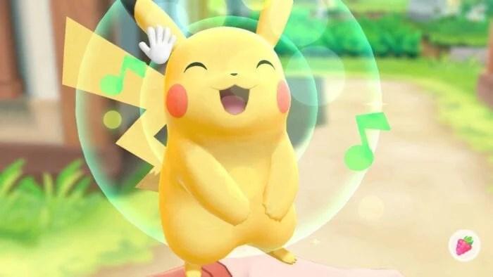 Pikachu smiling