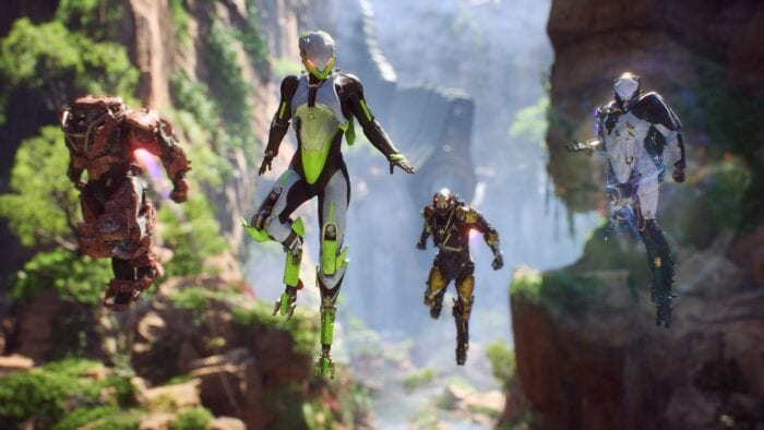 Anthem characters flying