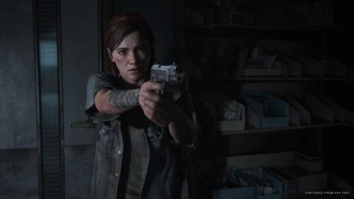 ellie with a gun the last of us part 2