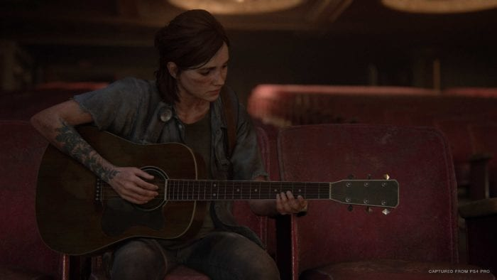 Ellie playing guitar TLOU2