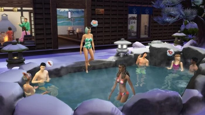 Screenshot from Sims Snowy Escape