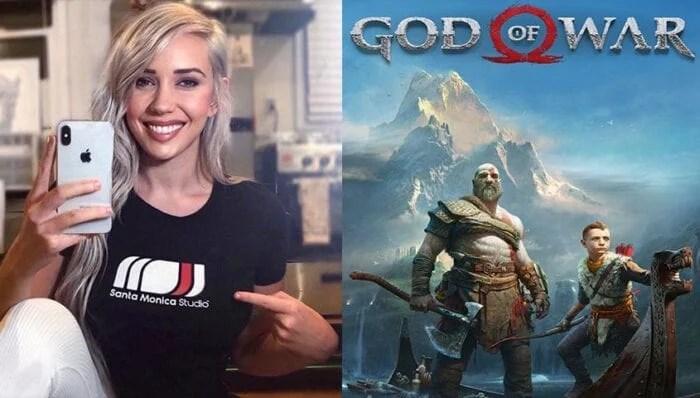 Alanah Pearce and God of War logo