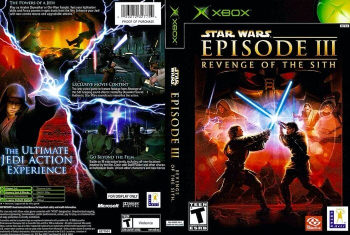 revenge of the sith game box