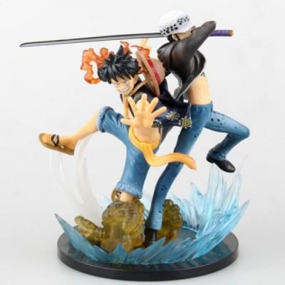figurines monkey d luffy et trafalgar law one piece figuarts zero 5th anniversary