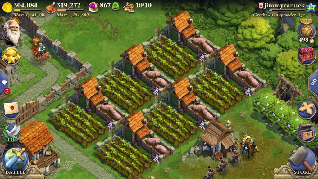 DomiNations harvest