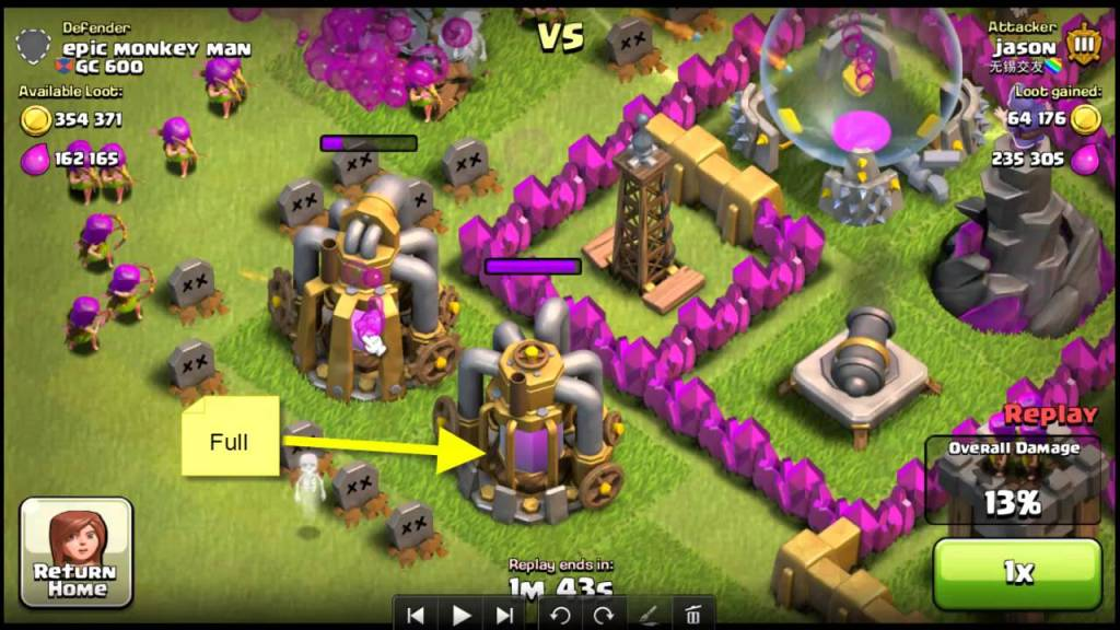 clash of clans elixir hint